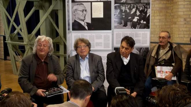 Péter Eszterházy, György Konrád, Claudio Magris (von links nach rechts)